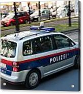 Police Car In Vienna Acrylic Print
