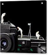 Police Investigate On A Camera Acrylic Print