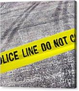 Police Line Acrylic Print