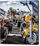 Police Motorcycle Lineup Acrylic Print