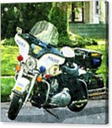 Police - Police Motorcycle Acrylic Print