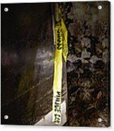 Police Tape Acrylic Print