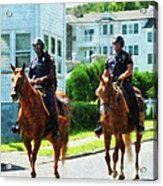 Police - Two Mounted Police Acrylic Print