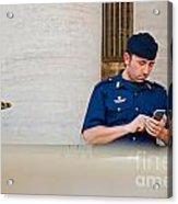 Policeman At St. Peter's Basilica Acrylic Print