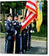 Policeman - Police Color Guard Acrylic Print by Susan Savad