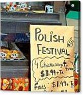 Polish Food Street Stand Acrylic Print
