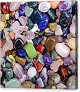 Polished Gemstones Acrylic Print