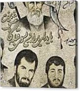 Political Religious Mural Teheran Iran With Ayatollah Khomeini Acrylic Print by Jacek Malipan