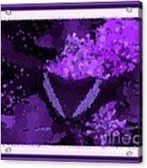 Polka Dot Butterfly Purple Acrylic Print