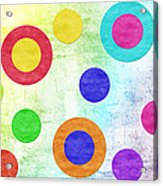 Polka Dot Panorama - Rainbow - Circles - Shapes Acrylic Print by Andee Design