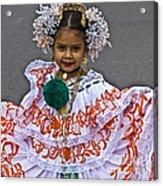 Pollera Costume Acrylic Print