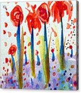 Pollinating Poppies Acrylic Print