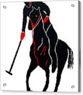 Polo Player Acrylic Print