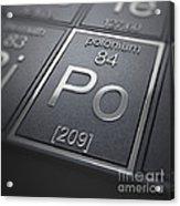 Polonium Chemical Element Acrylic Print