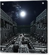 Polychrony Moonlight Acrylic Print by Bernard MICHEL