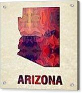 Polygon Mosaic Parchment Map Arizona Acrylic Print