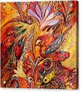 Polyptich Part IIi - Fire Acrylic Print