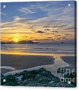 Polzeath Sunset 3 Acrylic Print