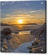 Polzeath Sunset Acrylic Print
