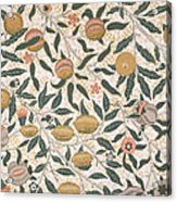 Pomegranate Design For Wallpaper Acrylic Print by William Morris
