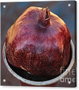 Pomegranate In A Vase Acrylic Print