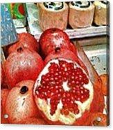 Pomegranates In Open Market Acrylic Print