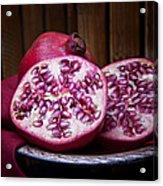 Pomegranate Still Life Acrylic Print by Tom Mc Nemar