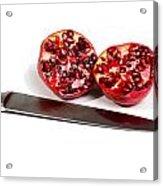 Pomegranates And Knife Acrylic Print