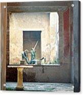 Pompeii Courtyard Acrylic Print