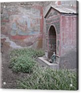 Pompeii Dry Fountain Acrylic Print
