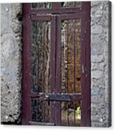 Pompeii Old Door Acrylic Print