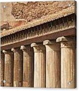 Pompeii Pillars Acrylic Print