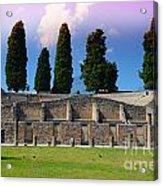 Pompeii Walls And Trees Acrylic Print