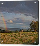 Pompey Center Rainbow Acrylic Print