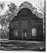 Pon Pon Chapel Of Ease 2 Bw Acrylic Print