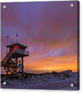 Ponce Inlet Beach Guard Tower Acrylic Print