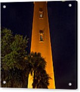 Ponce Inlet Lighthouse And Moon Acrylic Print