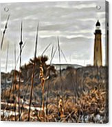 Ponce Inlet Lighthouse From The Dunes Acrylic Print