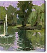 Pond At Fort Dent Tukwilla Acrylic Print