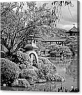 Pond At Heian Shrine - Kyoto Acrylic Print