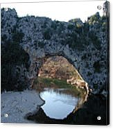 Pond Dark Ardeche France Acrylic Print