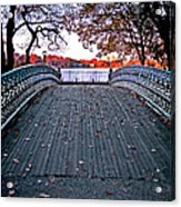 Pond Footbridge Acrylic Print