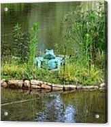 Pond Frog Acrylic Print