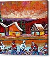 Pond Hockey Game 2 Acrylic Print