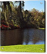 Pond In A Garden, Middleton Place Acrylic Print