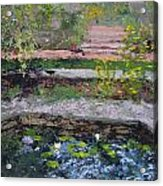 Pond In The English Walled Gardens Acrylic Print