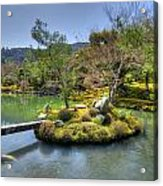 Pond Island And Gardens Acrylic Print