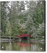 Pond Of Green Trees  Acrylic Print
