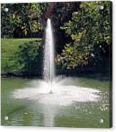 Pond With Water Feature Acrylic Print