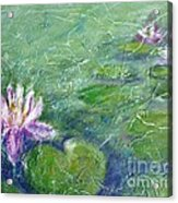Green Pond With Water Lily Acrylic Print